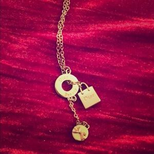 Dior sweater necklace